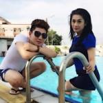 Ca nhạc - MTV - Lâm Chí Khanh khoe dáng cùng chồng tại bể bơi