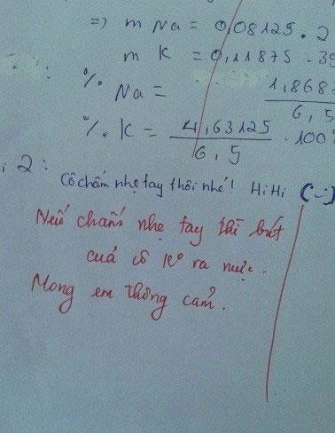 Đối đáp dí dỏm của cô và trò trong bài kiểm tra - 1