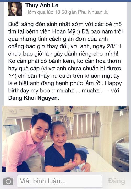 Vợ chồng Đăng Khôi đón sinh nhật trong bệnh viện - 6