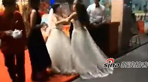 Clip: Bà bầu TQ đến phá đám cưới người yêu cũ - 1