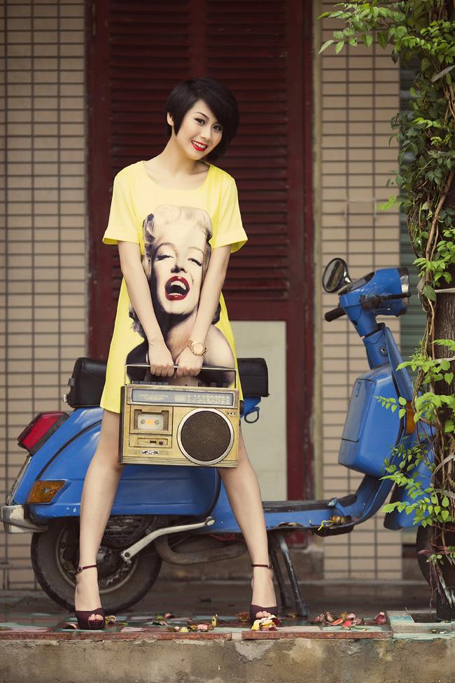 Cô gáI Sài Gòn Nita dạo phố Sài Gòn với mốt giấu quần cá tính