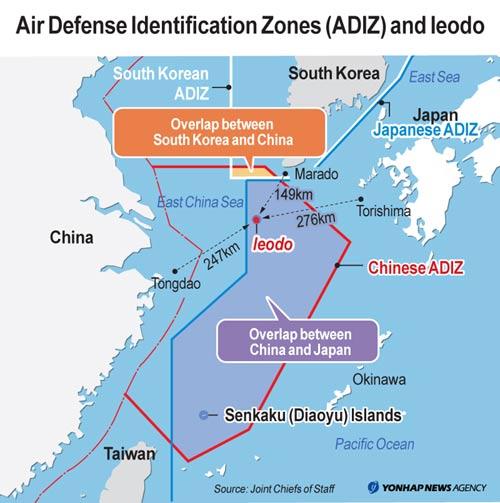 Hàn Quốc sẽ mở rộng ADIZ chống Trung Quốc - 1