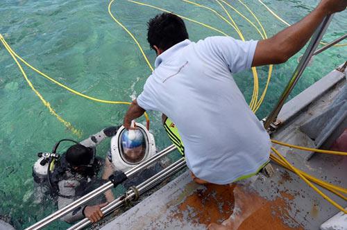 Thử cảm giác đi bộ dưới đáy biển ở đảo Sapi - 7
