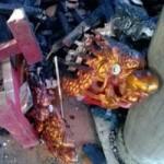 Tin tức trong ngày - Cảnh tan hoang sau vụ cháy đền thờ Lê Lai