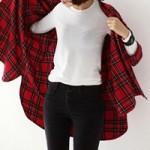 Thời trang - Điệu cùng áo sơ mi trắng mùa lạnh