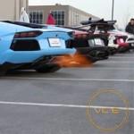 Ô tô - Xe máy - Dàn xe Lamborghini Aventador khạc lửa, nẹt pô