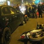 Tin tức trong ngày - Xế hộp tông hàng loạt xe máy đang chờ đèn đỏ