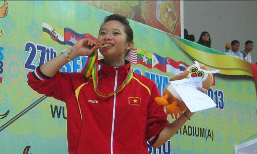 """Chuyện chưa biết về hot girl Wushu Việt Nam """"hái"""" HCV ở SEA Games - 1"""