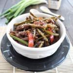 Ẩm thực - Mỳ trộn thịt bò xào măng tây