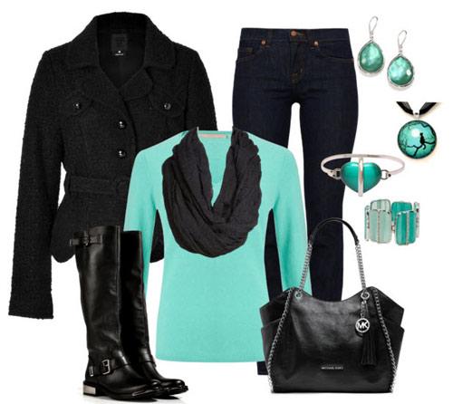 Mùa đông sang trọng với màu xanh lục bảo - 9