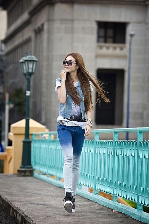 Phong cách trẻ của hot girl lai Pháp - 15