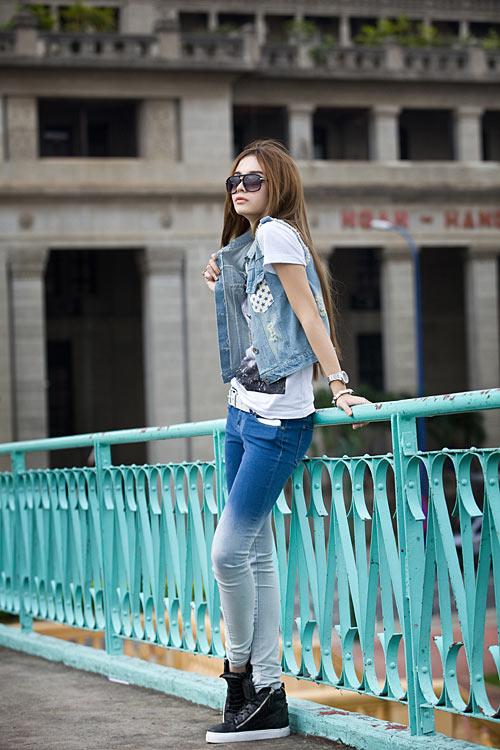 Phong cách trẻ của hot girl lai Pháp - 13