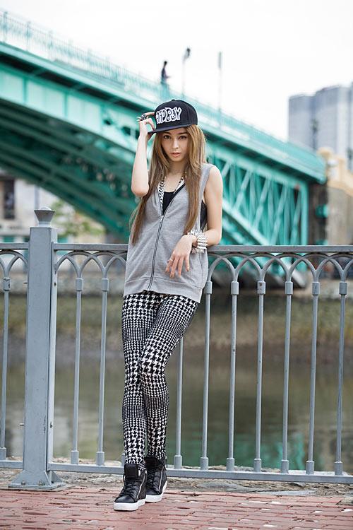 Phong cách trẻ của hot girl lai Pháp - 9