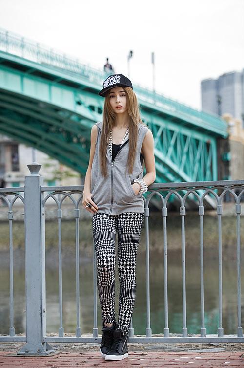 Phong cách trẻ của hot girl lai Pháp - 10