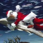 """Tin tức trong ngày - Ảnh đẹp: """"Ông già Noel"""" ôm cá mập ngựa vằn"""