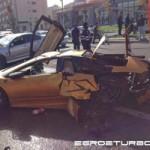 Ô tô - Xe máy - Lamborghini Murcielago gặp nạn vỡ vụn