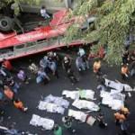 Tin tức trong ngày - Philippines: Xe bus rơi đè xe tải, 22 người chết