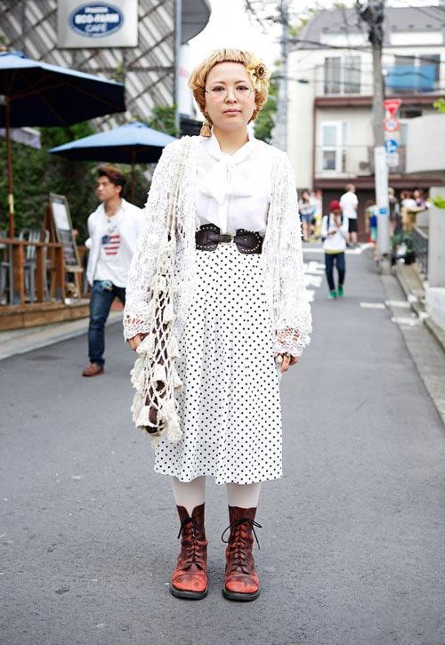 Váy dài kỳ thú trên đường phố Tokyo - 14