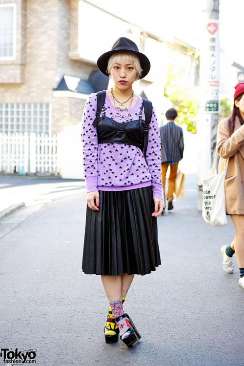 Váy dài kỳ thú trên đường phố Tokyo - 6