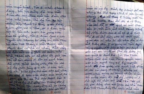 """Vụ bảo mẫu """"phù thủy"""": Bức thư đẫm lệ của mẹ - 3"""