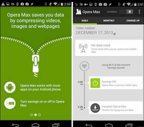 Trình duyệt Opera Max giúp tiết kiệm dung lượng 3G thời bão giá - 1