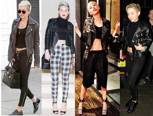 """""""Soi"""" Miley Cyrus diện crop top ngày đông - 4"""