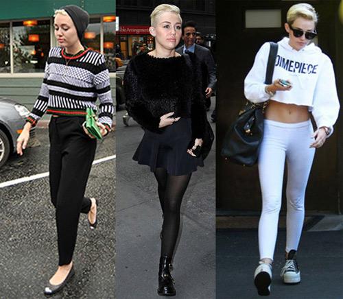 """""""Soi"""" Miley Cyrus diện crop top ngày đông - 5"""