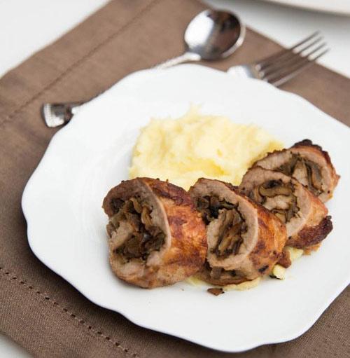 Thịt lợn cuộn nấm nướng lạ miệng - 10