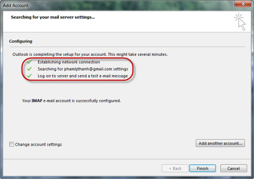 Quản lý Gmail, Yahoo! Mail, Hotmail bằng Outlook 2013 - 3