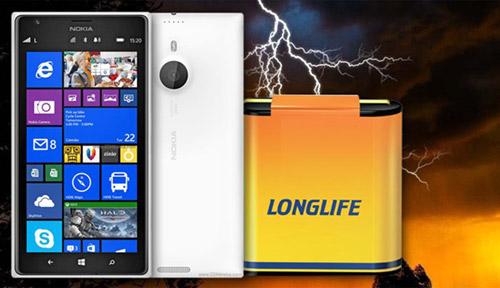 "Nokia Lumia 1520 khoe pin cực ""trâu"" - 1"