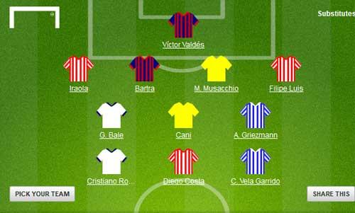 Đội hình giai đoạn 1 Liga: Đôi cánh CR7-Bale - 4