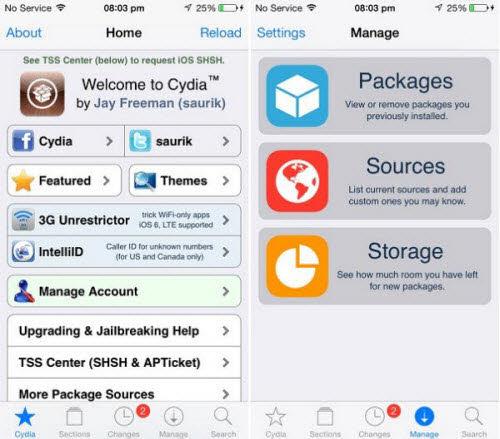 Ứng dụng Cydia cho iOS jailbreak có bản cập nhật - 1