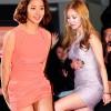 """Những chiếc váy """"chưa cúi đã hở"""" của sao Hàn"""