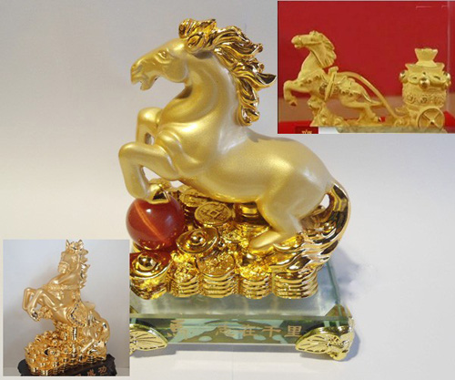 Lựa chọn Ngựa phong thủy mạ vàng chuẩn 24K đón tết Giáp Ngọ - 2