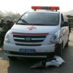 Tin tức trong ngày - Đấu đầu xe cấp cứu, một người trọng thương