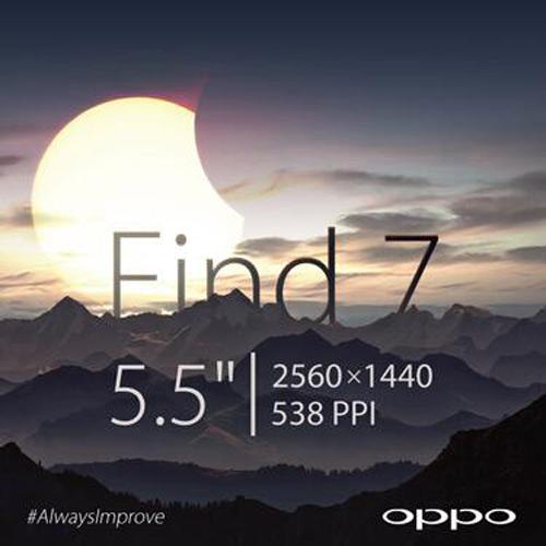 Oppo Find 7 màn hình 5,5 inch độ phân giải 2K - 1