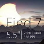 Oppo Find 7 màn hình 5,5 inch độ phân giải 2K