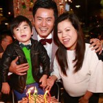 """Phim - """"Jang Dong Gun Việt"""" đón tuổi 35 bên vợ con"""