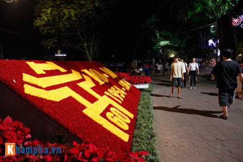 Hồ Gươm rực sáng mừng kỉ niệm 60 năm giải phóng Thủ đô - 5