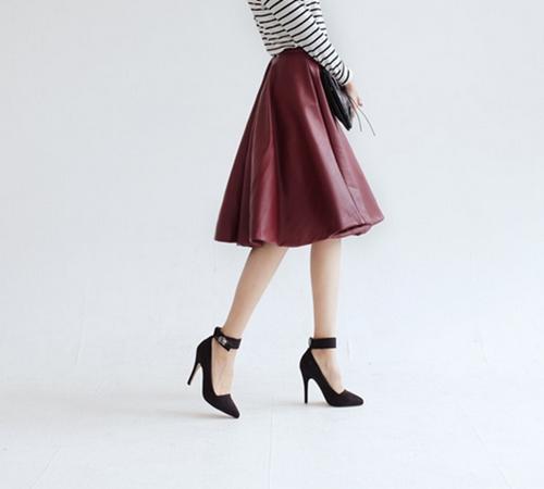 Nâng tầm phong cách với chân váy da - 11