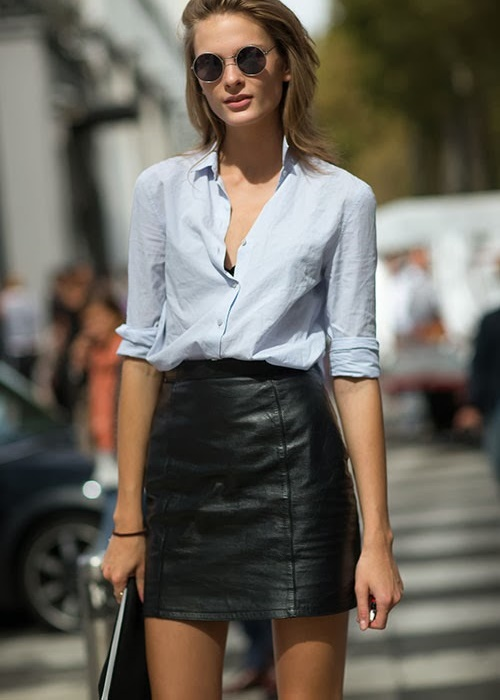 Nâng tầm phong cách với chân váy da - 16