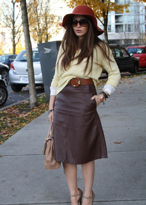 Nâng tầm phong cách với chân váy da - 15