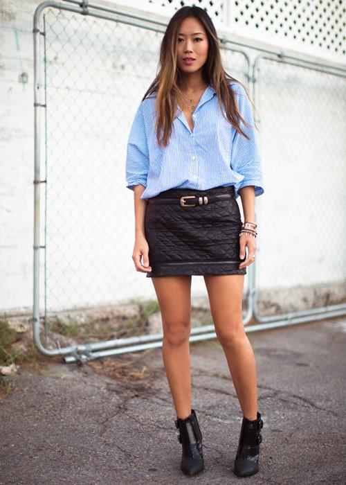 Nâng tầm phong cách với chân váy da - 13