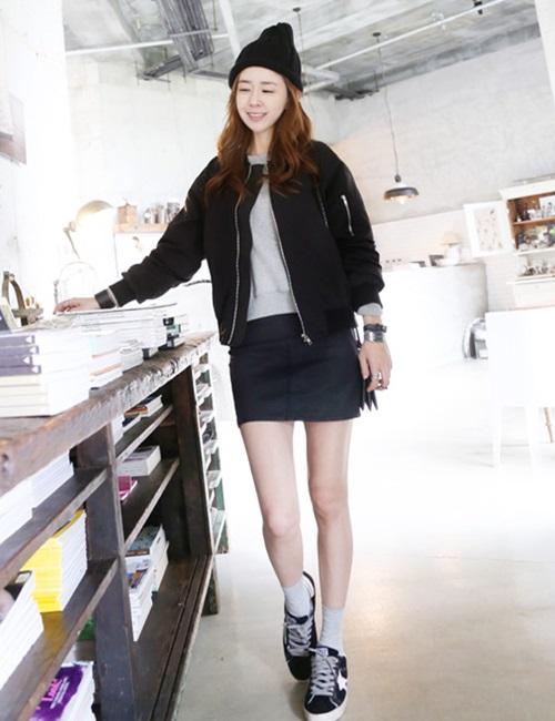 Nâng tầm phong cách với chân váy da - 5