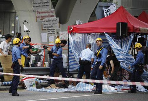 Người biểu tình Hong Kong ngừng bao vây tòa thị chính - 1