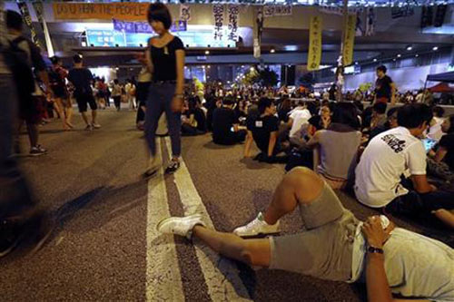 Người biểu tình Hong Kong ngừng bao vây tòa thị chính - 3