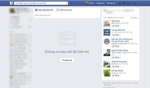 HOT: Facebook dính lỗi không hiển thị nội dung - 2