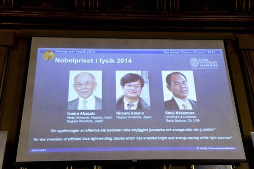 Ba nhà khoa học đoạt giải Nobel nhờ bóng đèn LED - 1