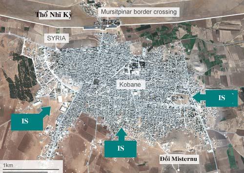 Mỹ ném bom dữ dội xuống IS bao vây thị trấn biên giới - 2