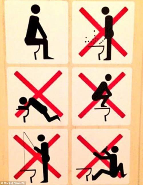 Những biển cấm kỳ cục trong toilet các nước - 2